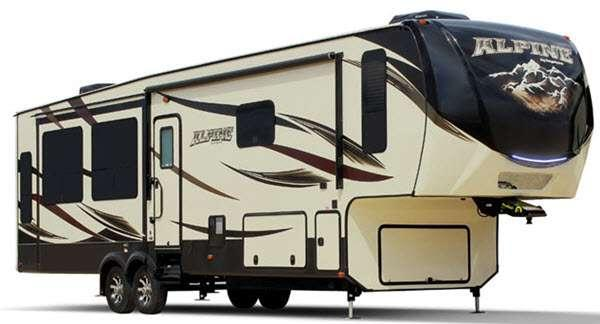 Outside - 2014 Alpine 3650RL Fifth Wheel