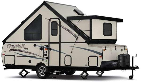Outside - 2017 Flagstaff Hard Side High Wall Series 19SCHW Folding Pop-Up Camper