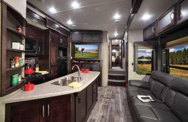 Inside - 2016 Carbon 327 Toy Hauler Fifth Wheel