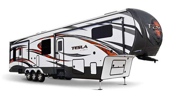 Outside - 2014 Tesla 3895 Toy Hauler Fifth Wheel