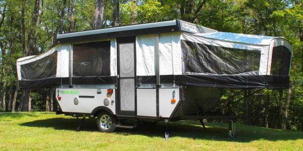 Somerset Camping Trailers Stock Photo