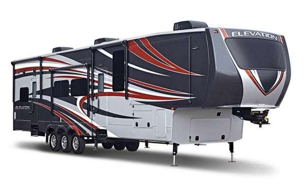 Outside - 2014 Elevation TF 3812 Toy Hauler Fifth Wheel