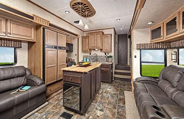 Inside - 2014 Elevation TF 3812 Toy Hauler Fifth Wheel