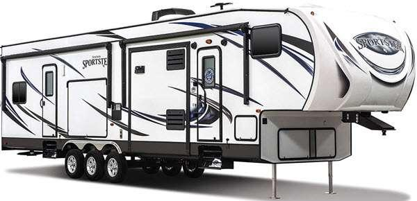 Outside - 2016 Sportsmen Sportster 305TH Toy Hauler Fifth Wheel