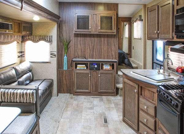 Inside - 2016 Sportsmen Sportster 305TH Toy Hauler Fifth Wheel