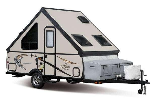 Inside - 2016 Clipper Camping Trailers V3 V-Trec Folding Pop-Up Camper
