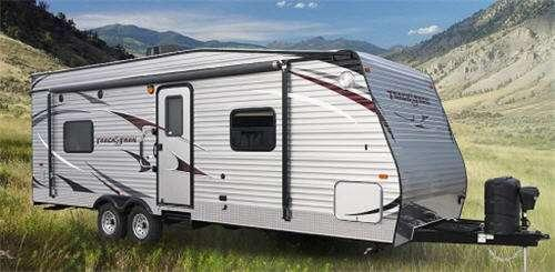 Outside - 2016 Track n Trail 26RTH Toy Hauler Travel Trailer