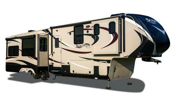 exterior of affordable fifth wheel