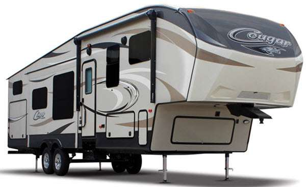 Cougar toy hauler fifth wheel general rv - Garage for rv model ...