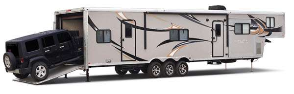 Forest River RV Work and Play Toy Hauler Fifth Wheel