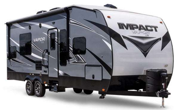 Impact toy hauler travel trailer rv sales 8 floorplans - Garage for rv model ...