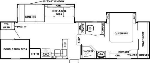 Floorplan - 2008 Forest River RV Cedar Creek Silverback 31LBHBS