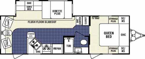 Floorplan - 2007 Dutchmen RV Classic 26L-DSL