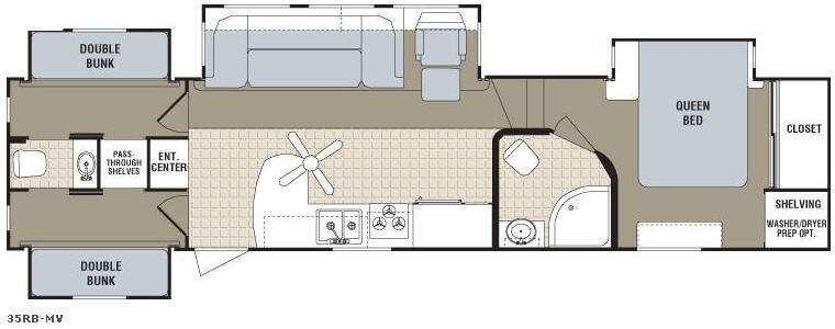 Floorplan - 2008 Dutchmen RV Monte Vista 35RB-MV