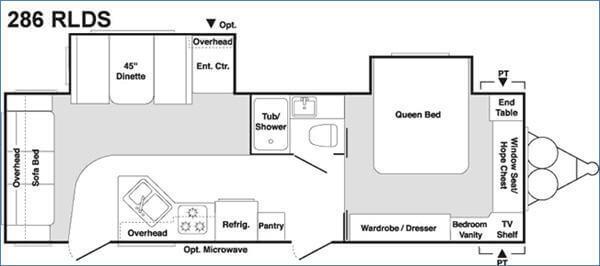 Floorplan - 2005 Keystone RV Springdale 286 RLD-S