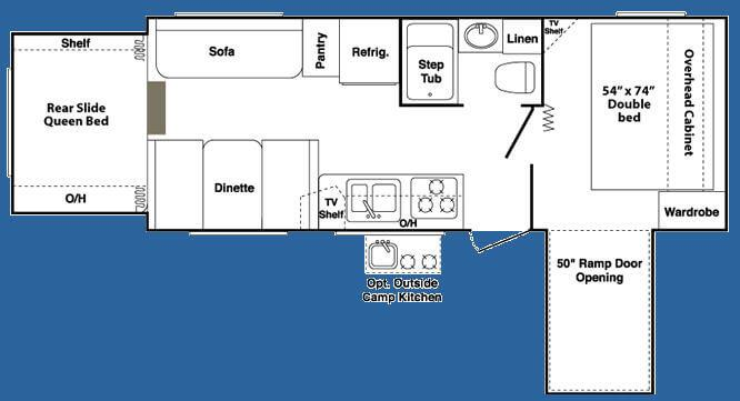 Outback Kargoroo 23KRS Floorplan