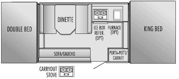 Floorplan - 2004 Jayco Quest 10 B
