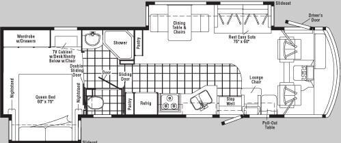Floorplan - 2005 Winnebago Adventurer 33 V