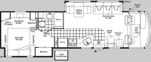 Floorplan - 2005 Winnebago Adventurer 35 U