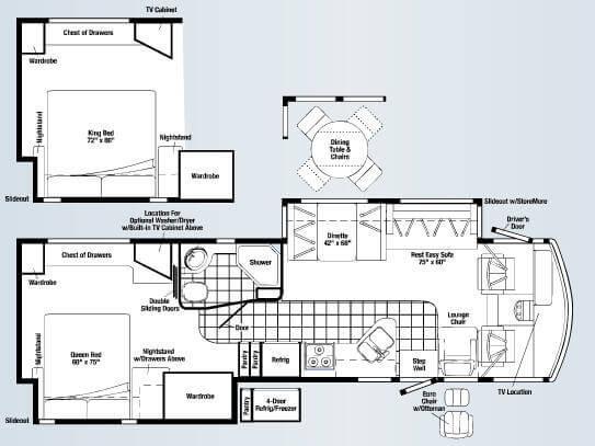 Floorplan - 2008 Winnebago Adventurer 35L