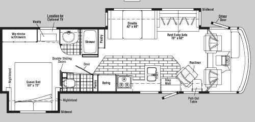 Floorplan - 2004 Winnebago Brave 32 V