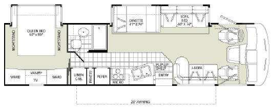 Floorplan - 2008 Fleetwood RV Southwind 34G