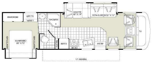 Floorplan - 2008 Fleetwood RV Terra LX 32K
