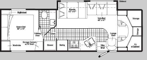 Floorplan - 2005 Winnebago Minnie Winnie 31 C