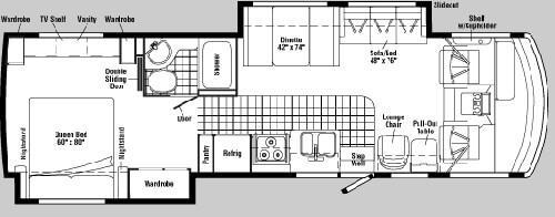 Floorplan - 2005 Winnebago Sightseer 35 N