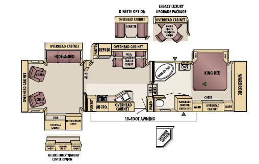 Floorplan - 2005 Jayco Designer 38 RDQS