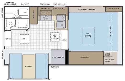 Floorplan - 2008 Lance 861