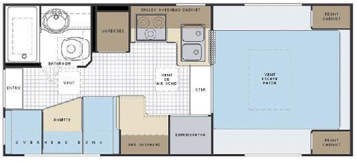 Floorplan - 2008 Lance 1055