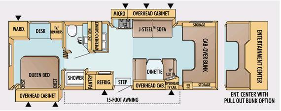Floorplan - 2008 Jayco Greyhawk 30 GS