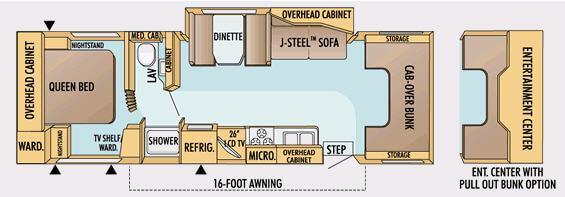 Floorplan - 2008 Jayco Greyhawk 31 SS