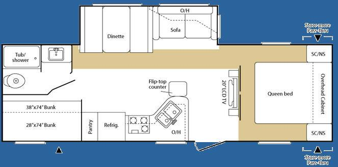 Floorplan - 2008 Keystone RV Sprinter 264BHS