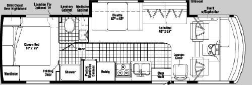 Floorplan - 2004 Itasca Sunova 30 B