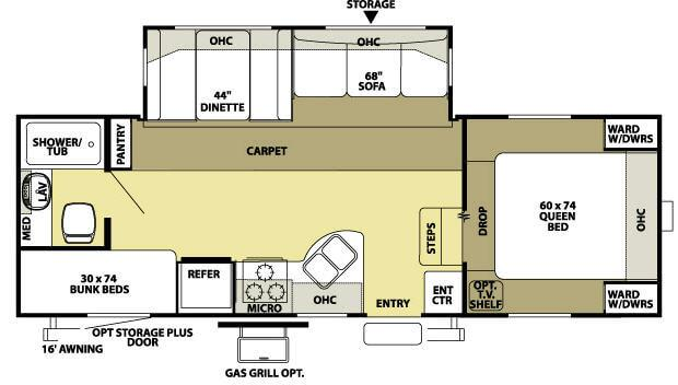 Floorplan - 2008 Forest River RV Wildwood LE 24BHSS