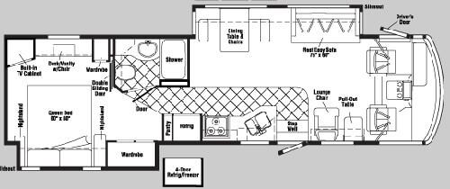 Floorplan - 2004 Itasca Suncruiser 35 U