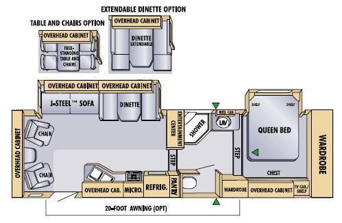Floorplan - 2005 Jayco Eagle 301 RLS