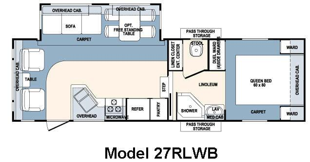 Floorplan - 2007 Forest River RV Wildcat 27RLWB