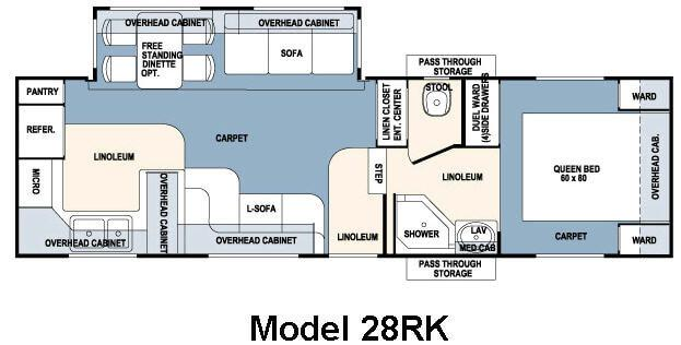 Floorplan - 2007 Forest River RV Wildcat 28RK