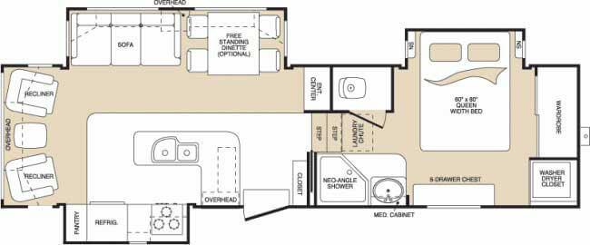 Floorplan - 2008 Keystone RV Montana 2980 RL