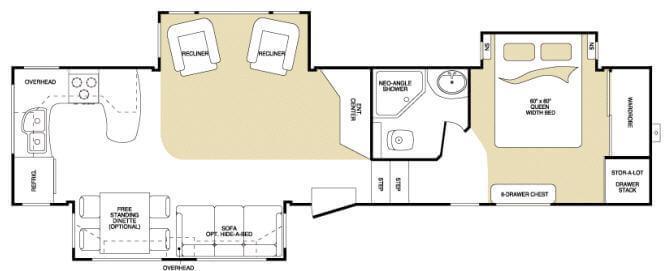 Floorplan - 2008 Keystone RV Montana 3585 SA