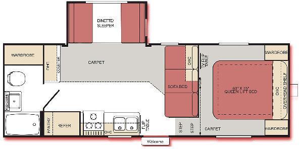 Floorplan - 2007 Extreme Monterey 235FS