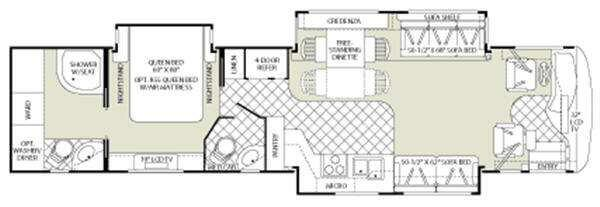 Floorplan - 2008 Fleetwood RV Revolution LE 40E