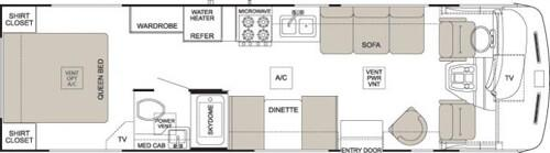 Floorplan - 2004 Thor Hurricane 30 Q
