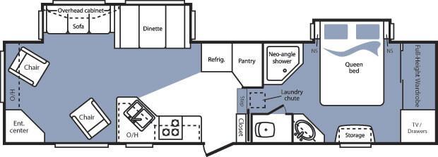 Floorplan - 2008 Keystone RV Cougar 311RLS