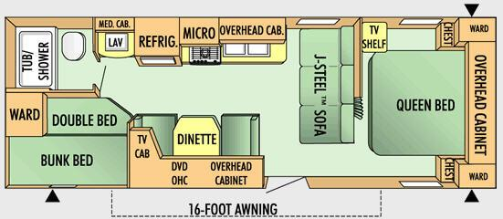 Floorplan - 2008 Jayco Jay Flight 26 BH