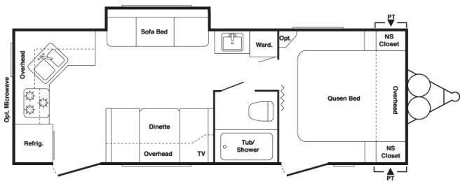 Floorplan - 2008 Keystone RV Springdale 250RKLS