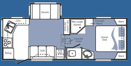 Floorplan - 2008 Keystone RV Cougar 245RKS